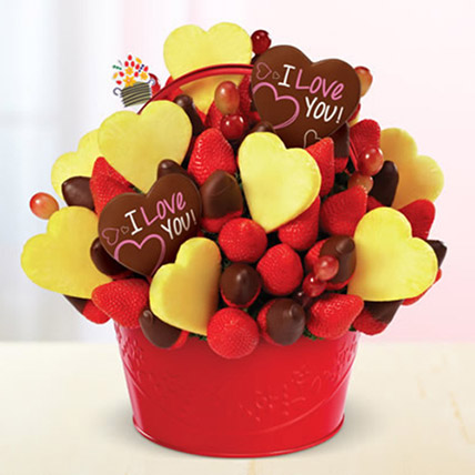 Be Mine Bouquet: Edible Arrangements