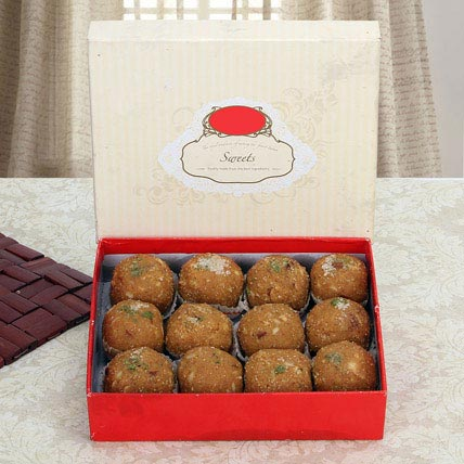 Box of Dry Fruit Besan Laddoo: Indian Desserts