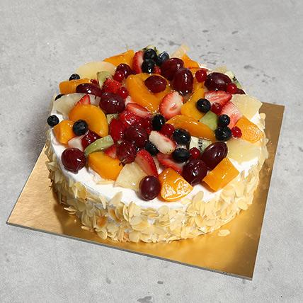 Eggless Fresh Fruit Fantasy: Eggless Cakes for Birthday