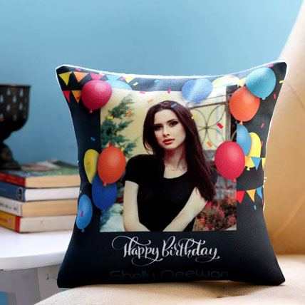 Personalised Birthday Balloons Cushion: Personalised Gifts