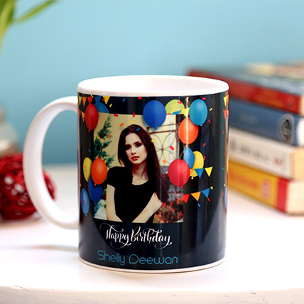 Personalised Birthday Balloons Mug: Personalized Gifts for Her