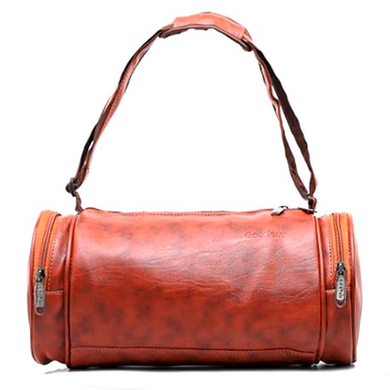 Duffle Gym Leather Bag: Accessories