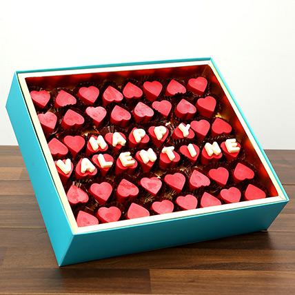 Valentine Special Heart Shaped Belgium Chocolates: Valentines Gifts For Her