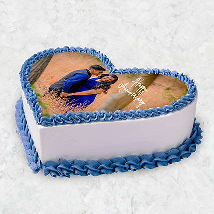 Heart Shaped Photo Cake 10 Pax: Gift Ideas for Couples