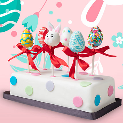 Happy Easter Cake Pops 6 Pcs: Pop Cakes