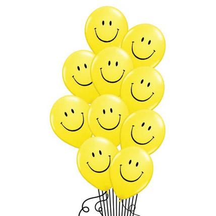 Smiley Helium Balloons: Helium Balloons Dubai