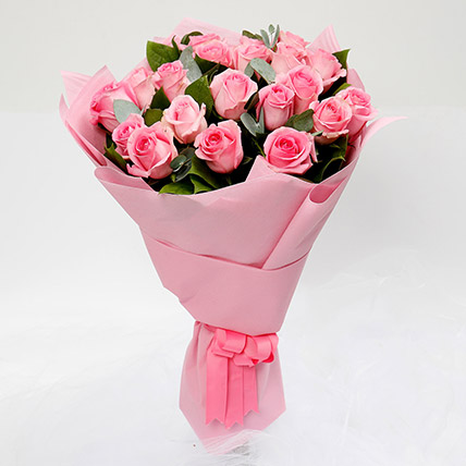Passionate 20 Pink Roses Bouquet: Best Mother's Day Gifts