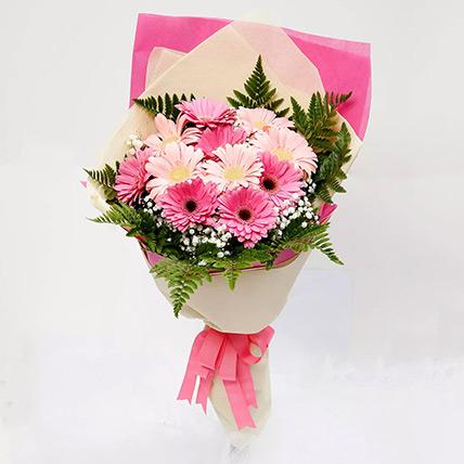 Beautiful Pink Gerbera Bouquet: Birthday Flowers to Sharjah