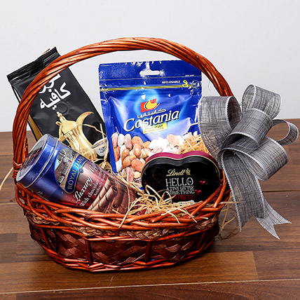Snack and Sweet Basket: Anniversary Hampers