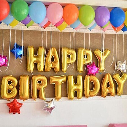 Happy Birthday Colourful Balloon Decor: Birthday Gifts to Sharjah