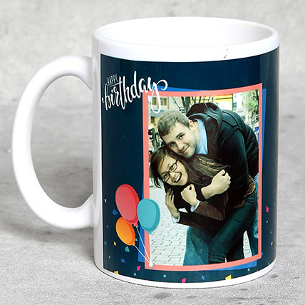 White Personalised Birthday Mug: Personalised Gifts for Mother