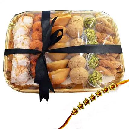 Rakhi with Sweet Platter:  Rakhi Delivery