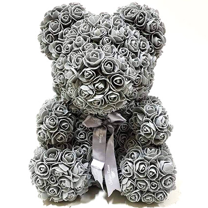Artificial Grey Roses Teddy: Unique Gifts Dubai