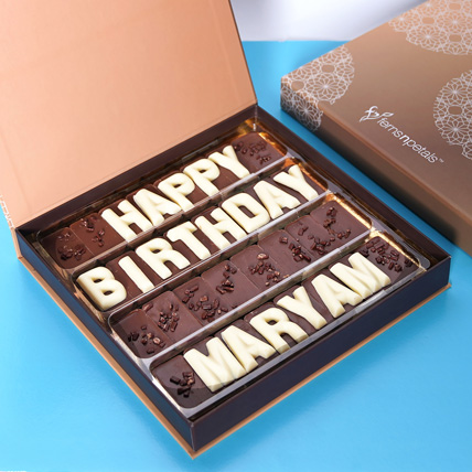 Customized Happy Birthday Chocolate: Best Birthday Gift for Wife