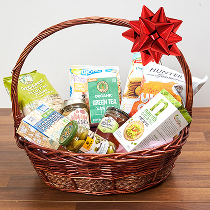Mint Green Tea and Snacks Basket: Bakery