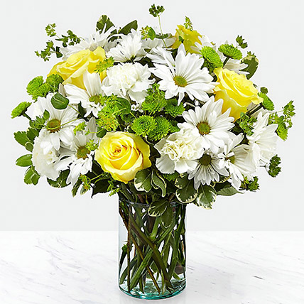 Vase Of Happy Flowers: