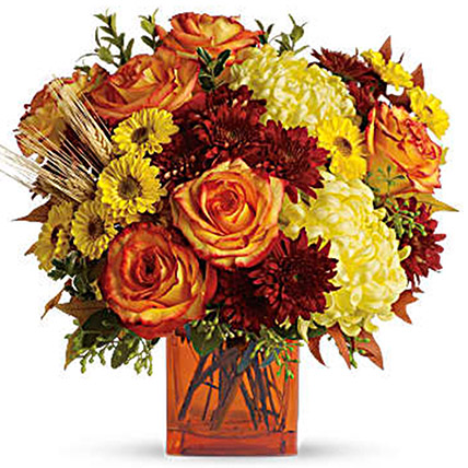 Exotic Mixed Floral Vase: