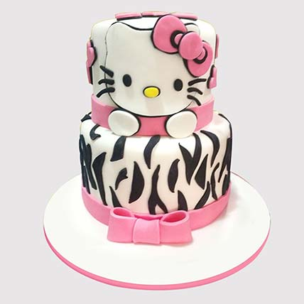 2 Layer Hello Kitty Cake: