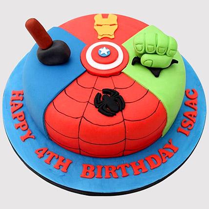 Avengers Special Fondant Cake: Kids Birthday Cakes