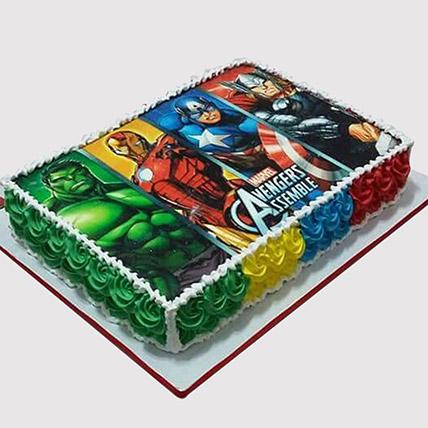 Avengers Superheroes Photo Cake: Avengers Cakes