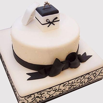 Designer Fondant Ring Cake: