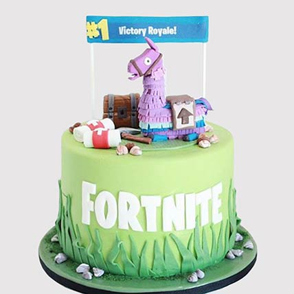 Fortnite Unicorn Floaties Cake: Fortnite Birthday Cakes