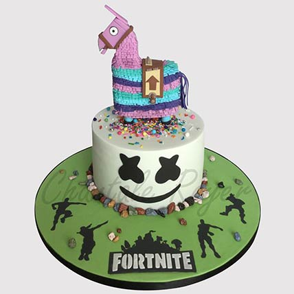 Fortnite Unircorn Fondant Cake: Fortnite Birthday Cakes