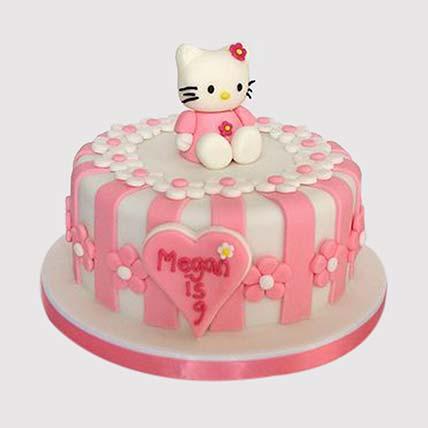 Hello Kitty Fondant Cake: Hello Kitty Cake