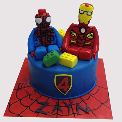 Iron Man and Spiderman Cake: Iron Man Birthday Cakes
