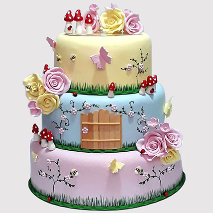 Magical Land 3 Tier Cake: Tinkerbell Cakes