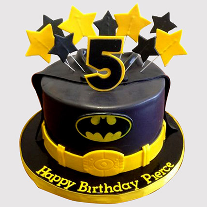 Starry Batman Cake: Batman Birthday Cakes