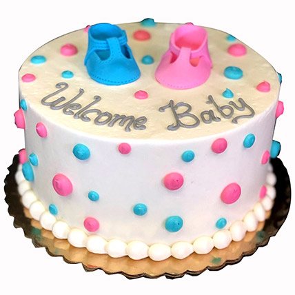 Welcome Baby Cream Cake: