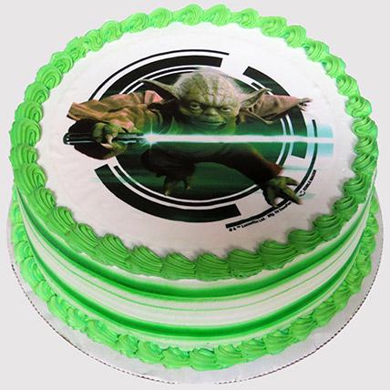 Yoda Photo Cake: Star Wars Birthday Cakes