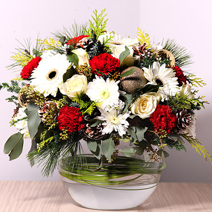 Bowl Of Fragrant Flowers: Christmas Flowers to Dubai