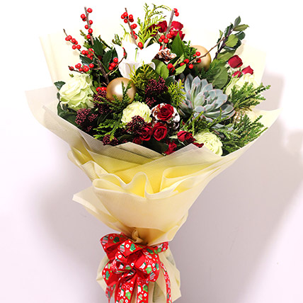 Xmas Special Flower Bouquet: Christmas Flowers to Sharjah