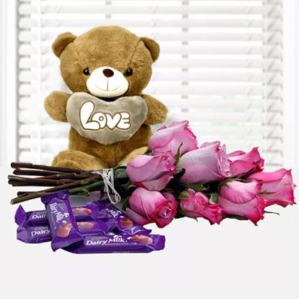 Fall in Love Again: Rose Day Flowers & Teddy Bears