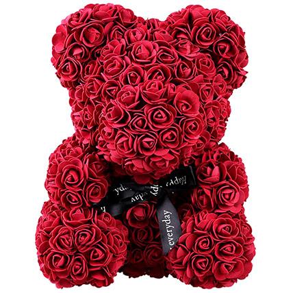Artificial Roses Teddy Maroon: