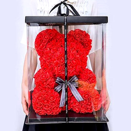 Artificial Red Roses Teddy: Best Gift for Wife