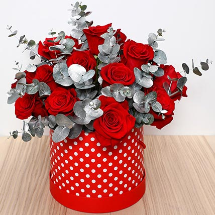 Beautiful Red Roses Box: Flower in a Box