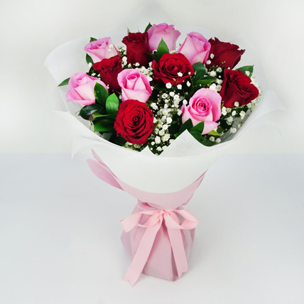 Pink and Red Roses Grand Bouquet: