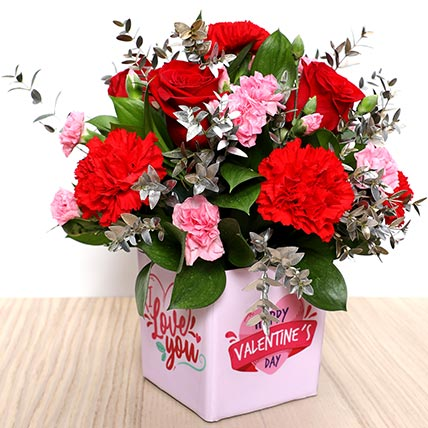 Valentines Love You Flower: Valentine Flower Arrangements