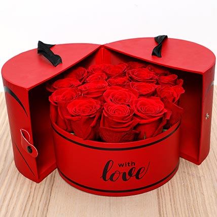 Luxurious Roses Box: Flower in a Box