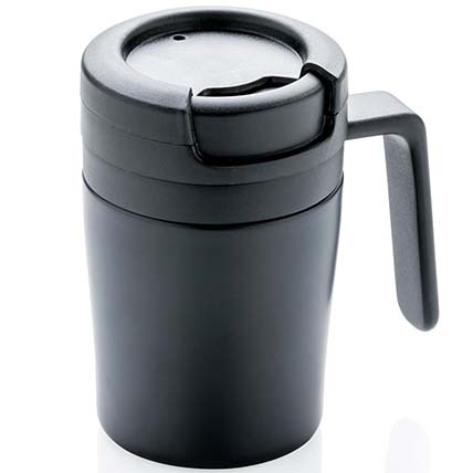 Double Wall Coffee Mug With Spill Proof Lid: