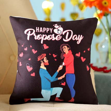 Propose Day Printed Cushion: Propose Day Gift Ideas