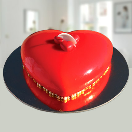 Valentines Red Heart Cake: Valentines Gifts