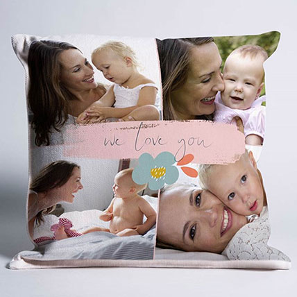 We Love You Personalised Cushion: Personalised Gifts