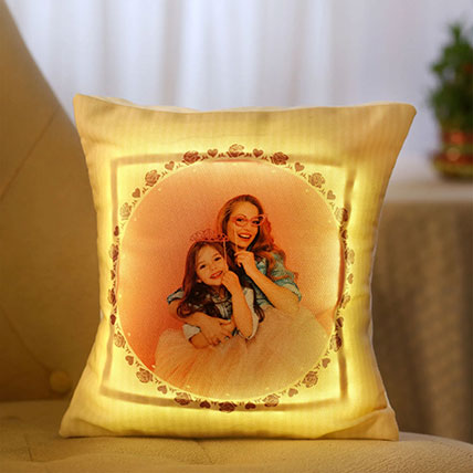 Personalised LED Cushion For Mom: Cushions for Mothers Day