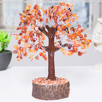 Handcrafted Agate Stone Wish Tree: 1 Hour Gift Delivery
