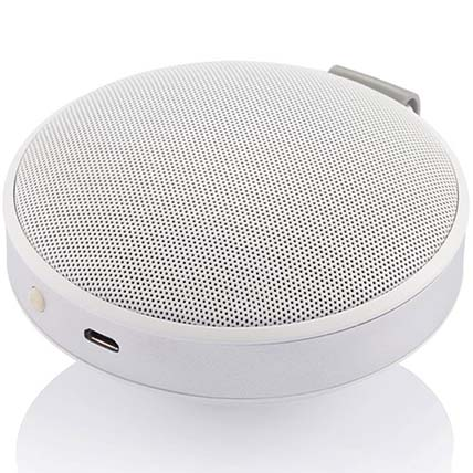 White N Silver Bluetooth Speaker: