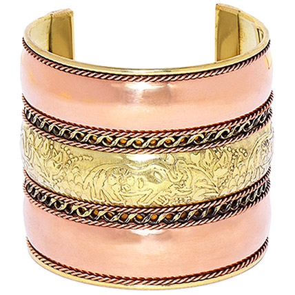 Gold Plated Cuff Bracelet: Artificial Jewellery